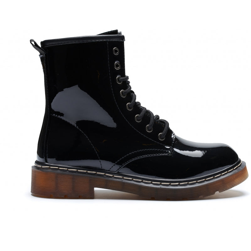 Shoes Ideal Shoes Dame Støvle TX-1830 Shoes Black