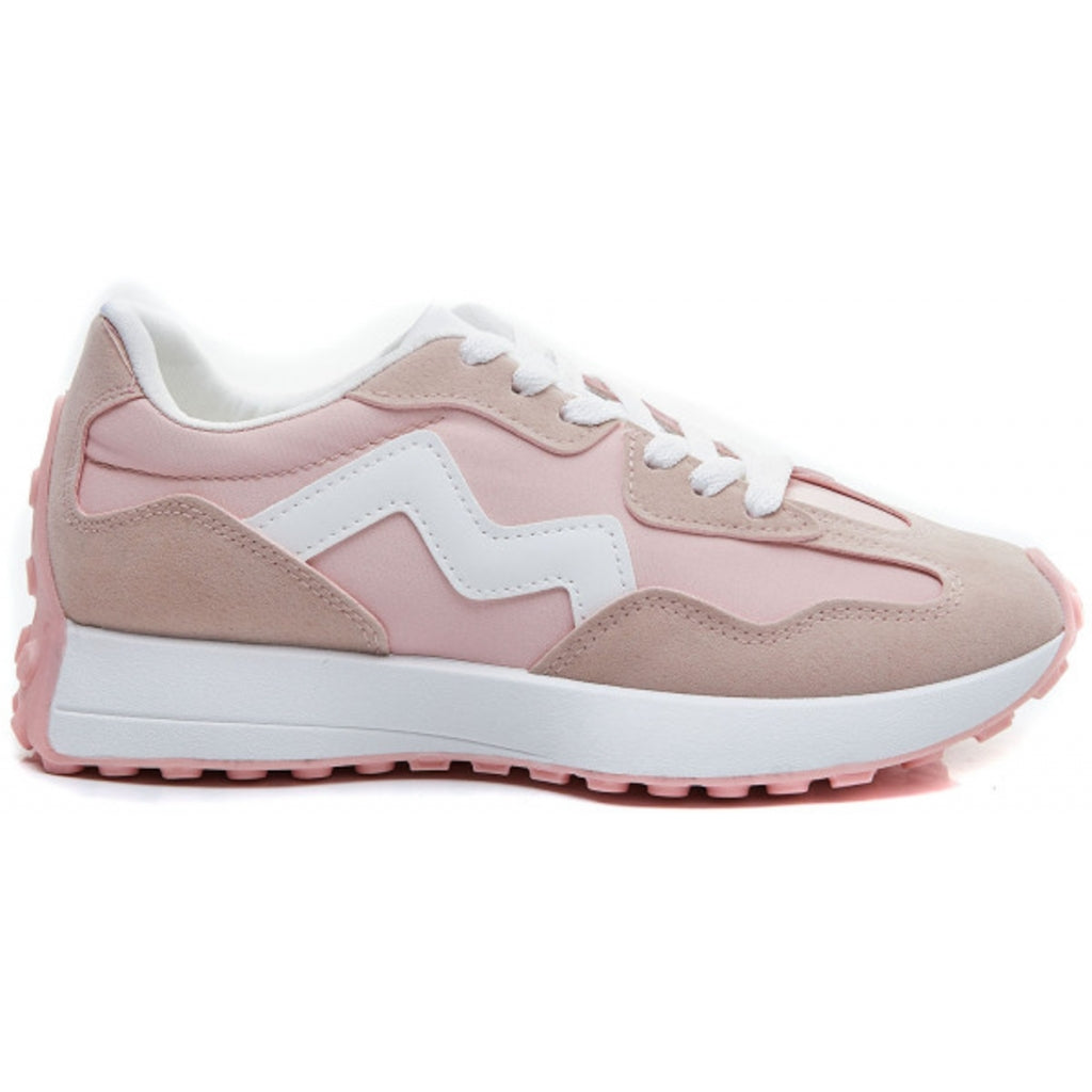 Ideal Shoes dame sneakers 6127 - Pink