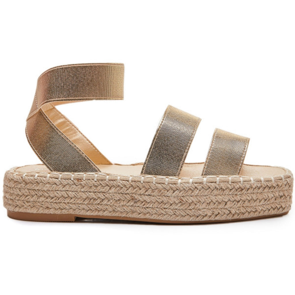 Ideal shoes dame sandal 6930 - Gold