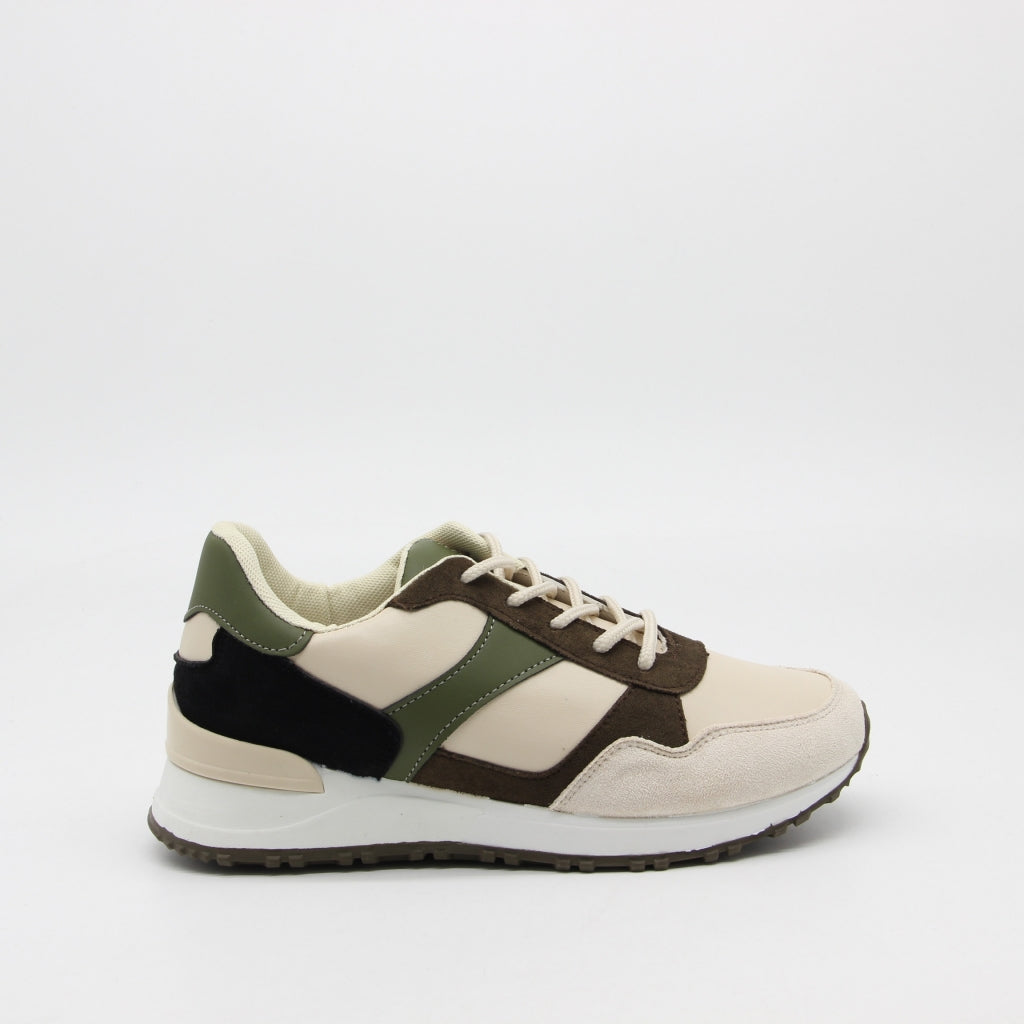 Ideal shoes dame sneakers 6105 - Green