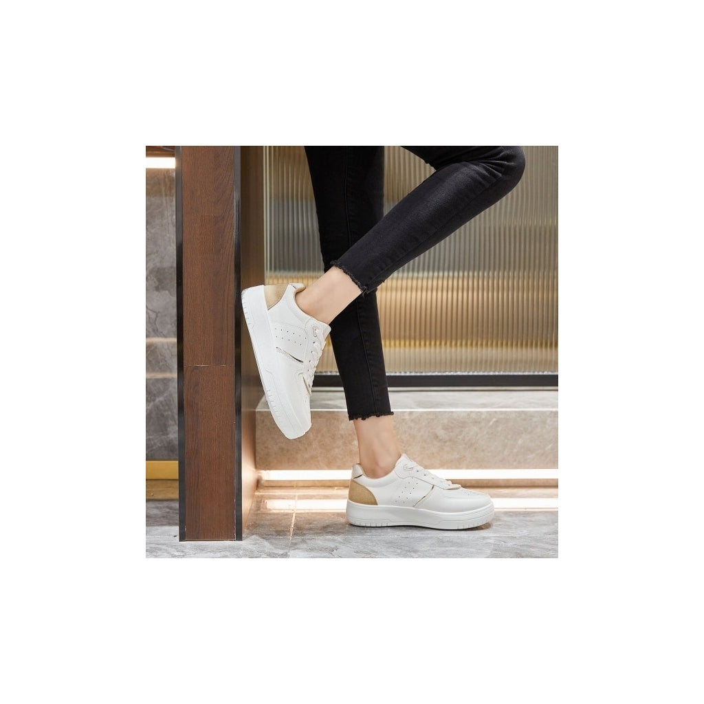 Ideal shoes dame sneakers 6118 - Beige