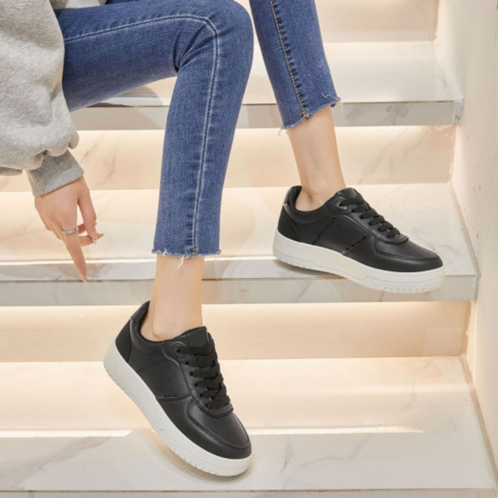 Ideal shoes dame sneakers 6118 - Black