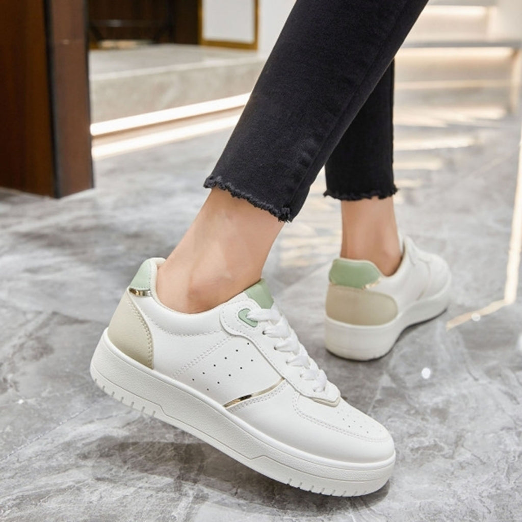Ideal shoes dame sneakers 6118 - Khaki