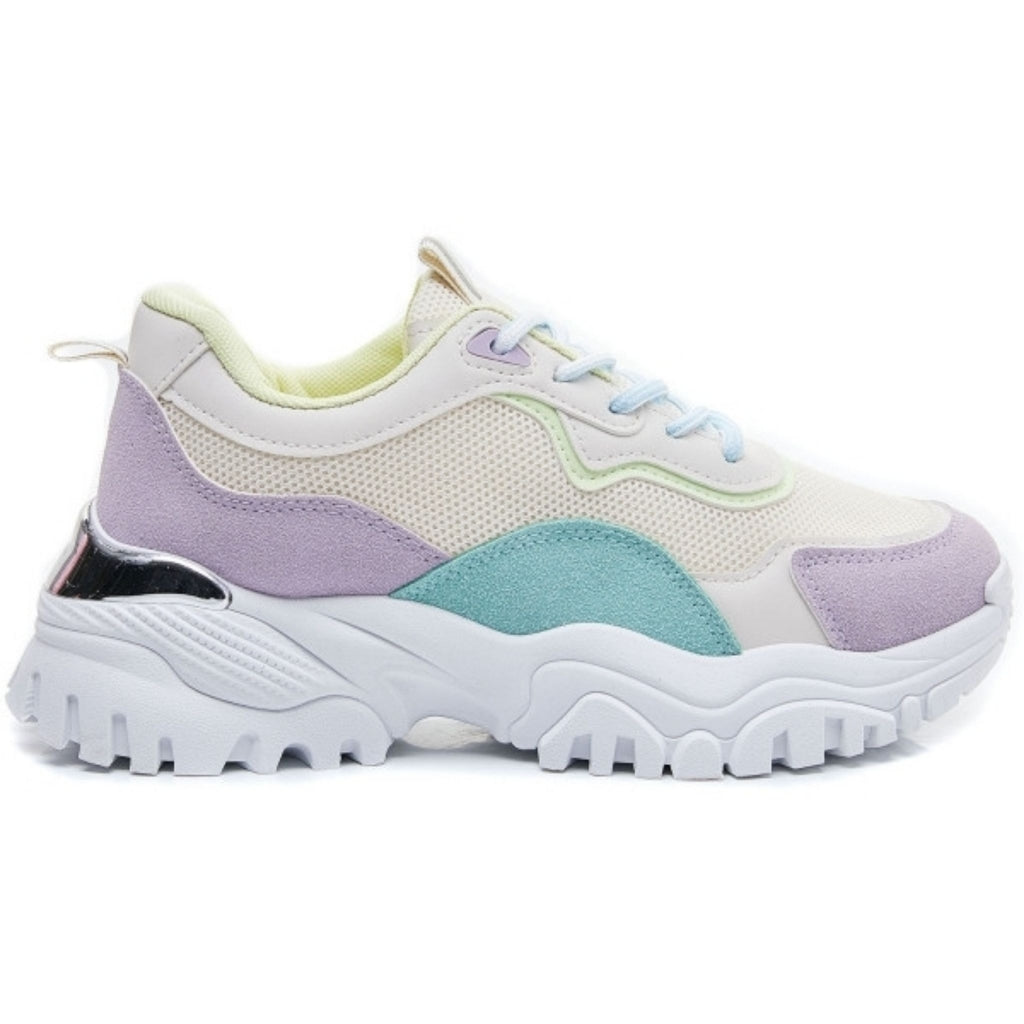 Ideal shoes dame sneakers 6129 - Purple
