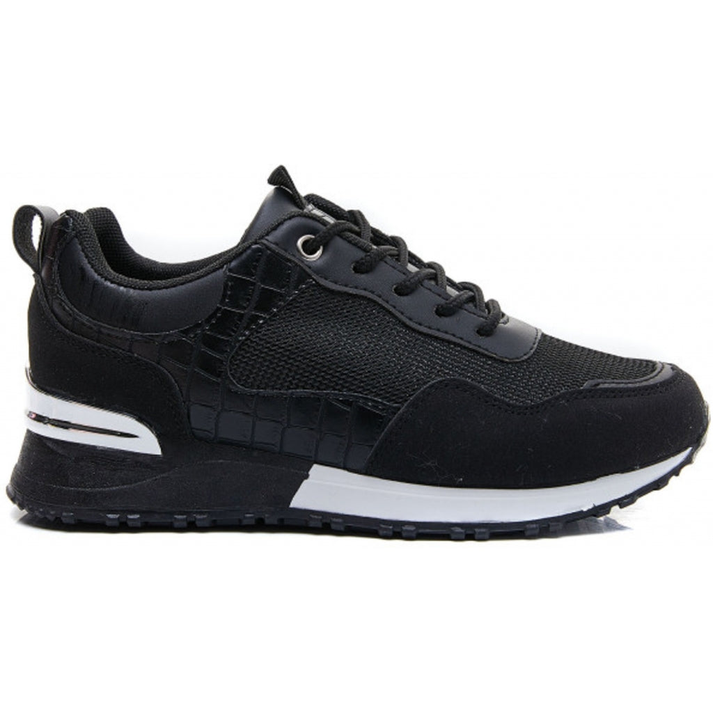 Ideal shoes dame sneakers 6132 - Black