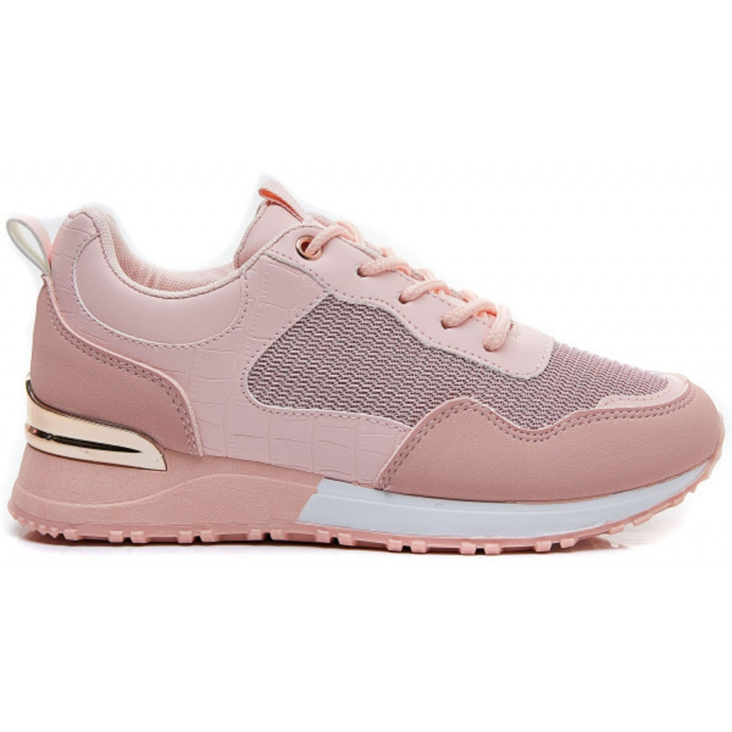 Ideal shoes dame sneakers 6132 - Pink