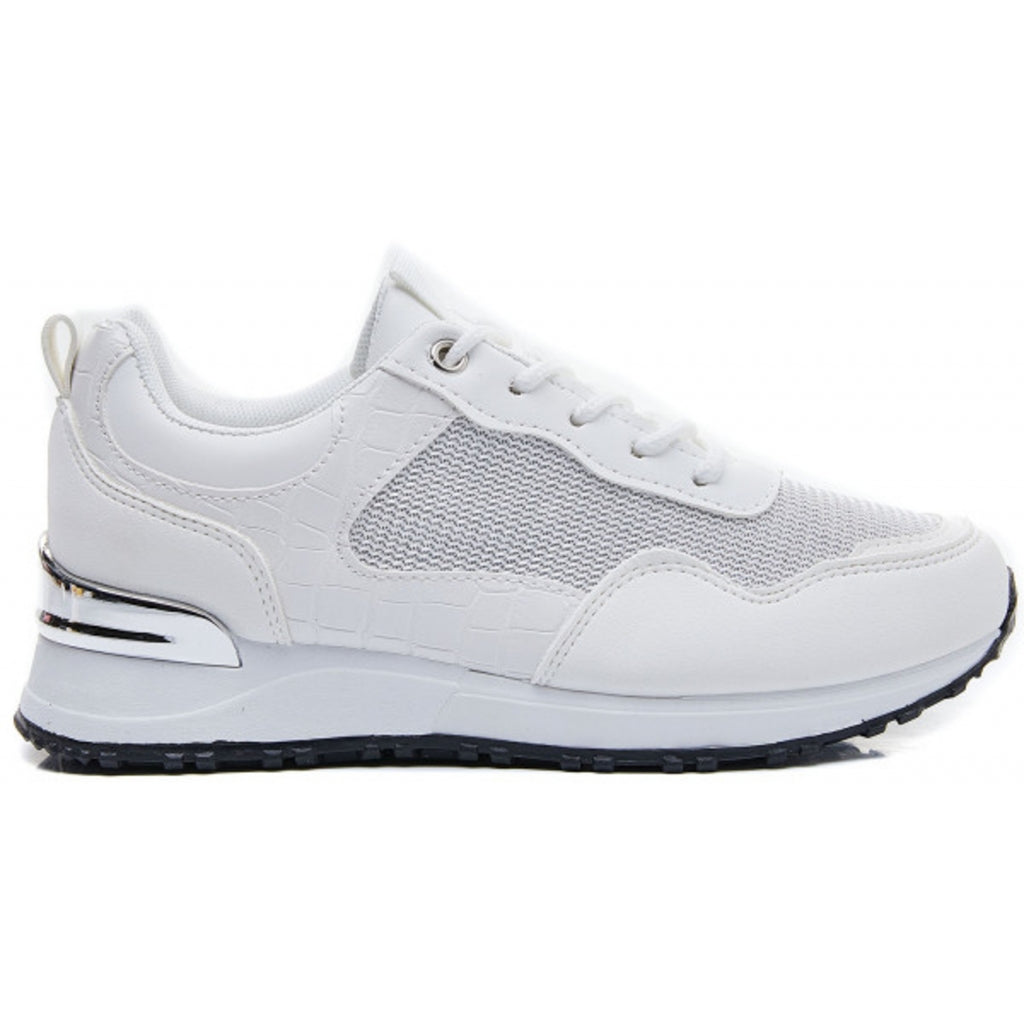 Ideal shoes dame sneakers 6132 - White