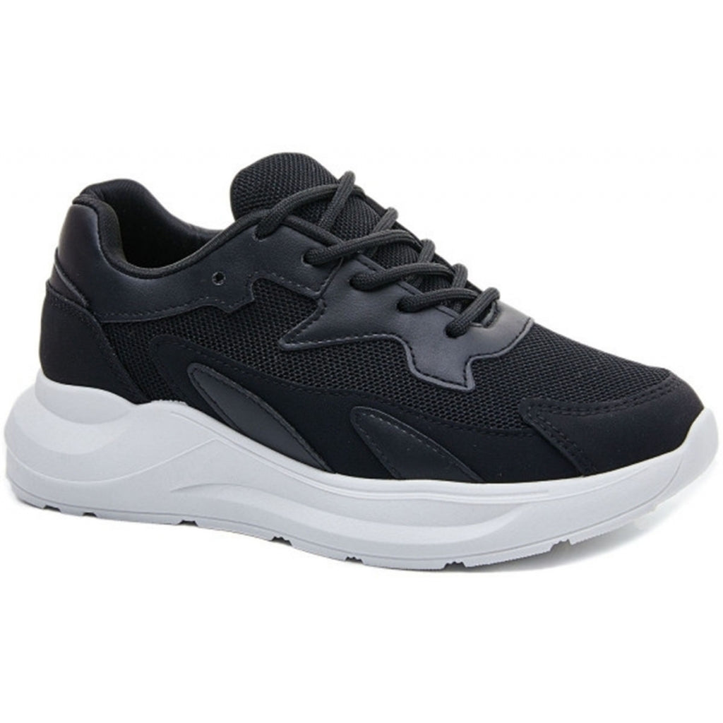 Ideal shoes dame sneakers 6136 - Black