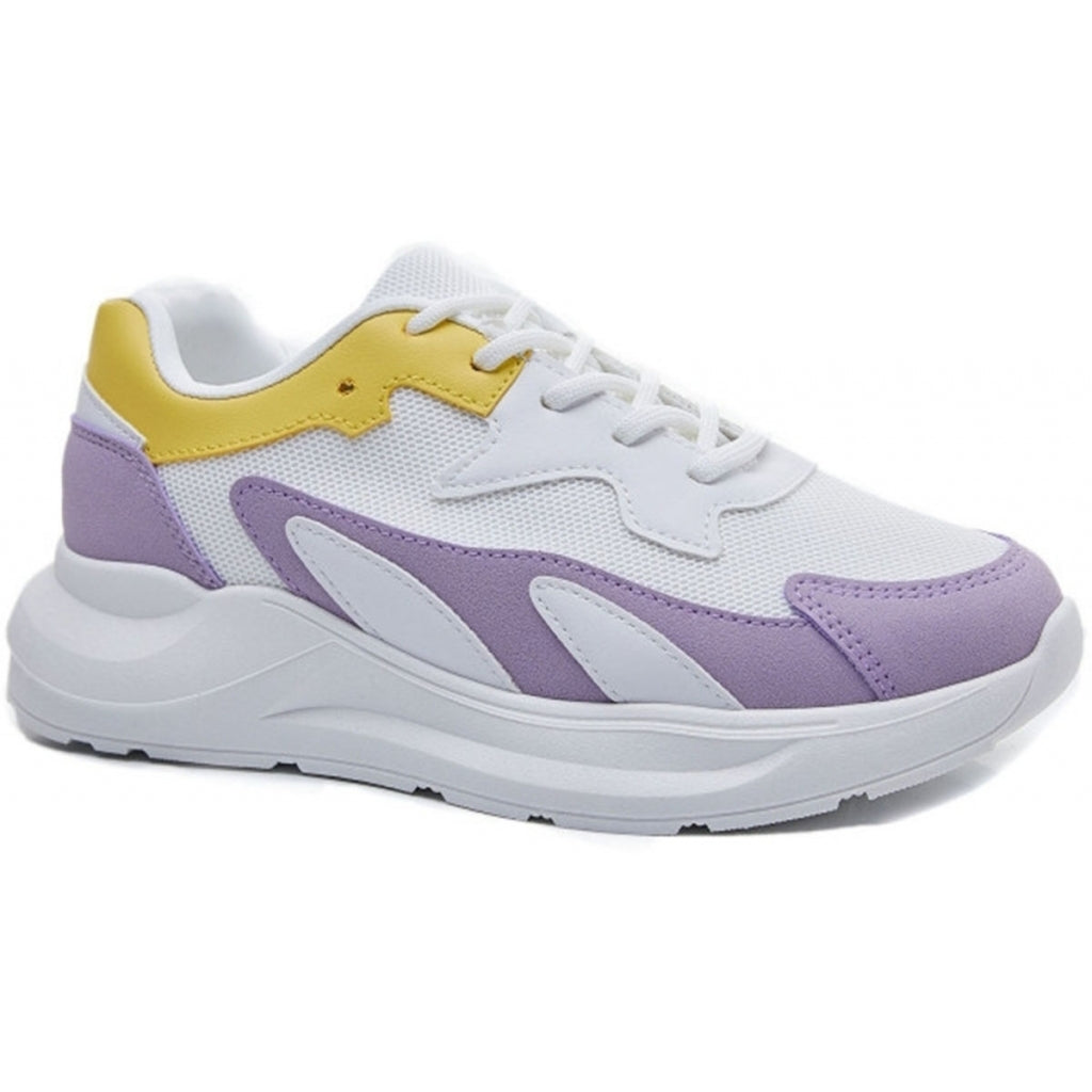 Ideal shoes dame sneakers 6136 - Purple