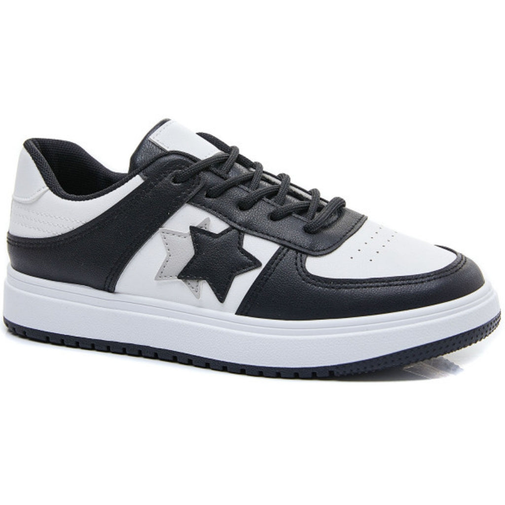Ideal shoes dame sneakers 6138 - Black