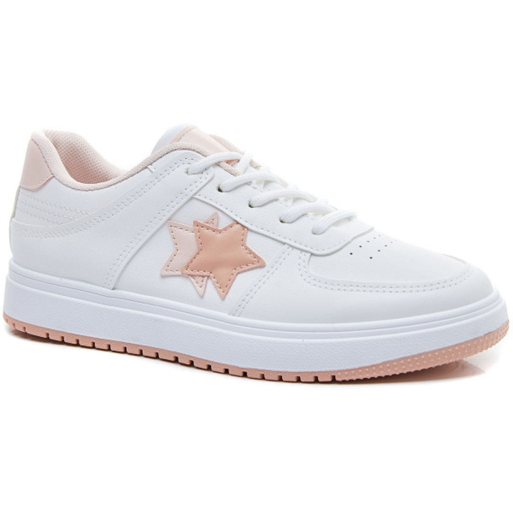 Ideal shoes dame sneakers 6138 - Pink