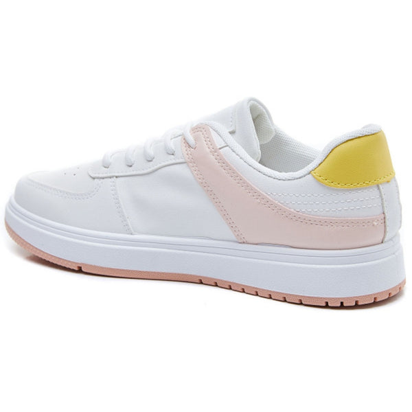 Shoes Ideal shoes dame sneakers 6138 Shoes Yellow