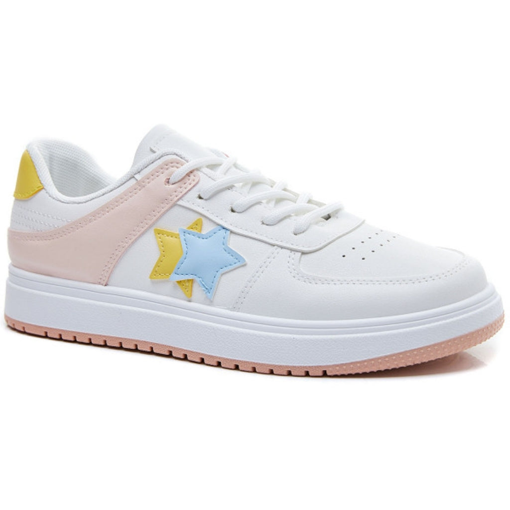 Ideal shoes dame sneakers 6138 - Yellow