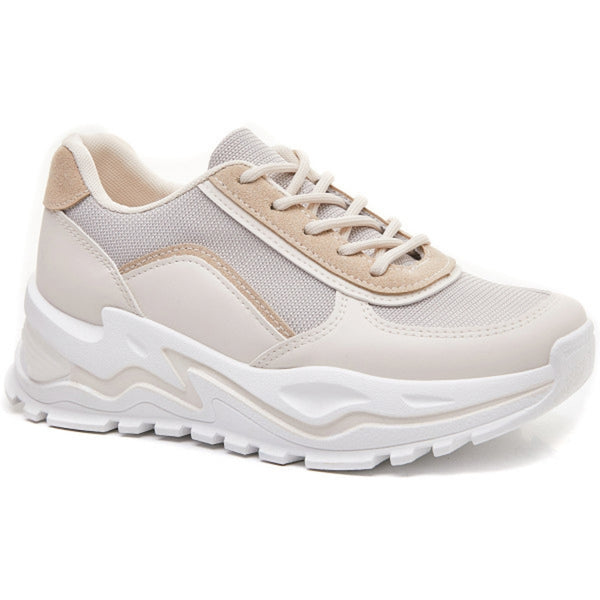 Shoes Ideal shoes dame sneakers 6160 Shoes Beige