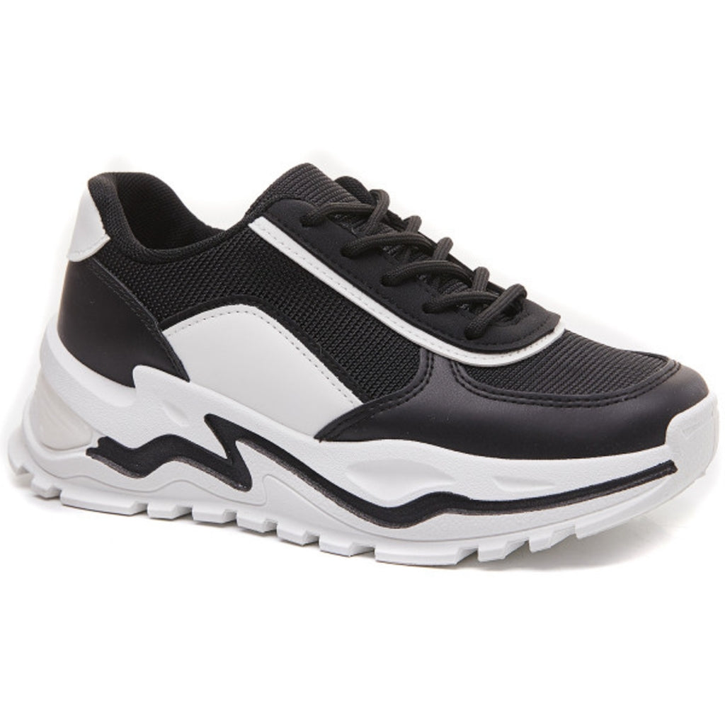 Ideal shoes dame sneakers 6160 - Black
