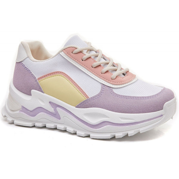 Shoes Ideal shoes dame sneakers 6160 Shoes Purple