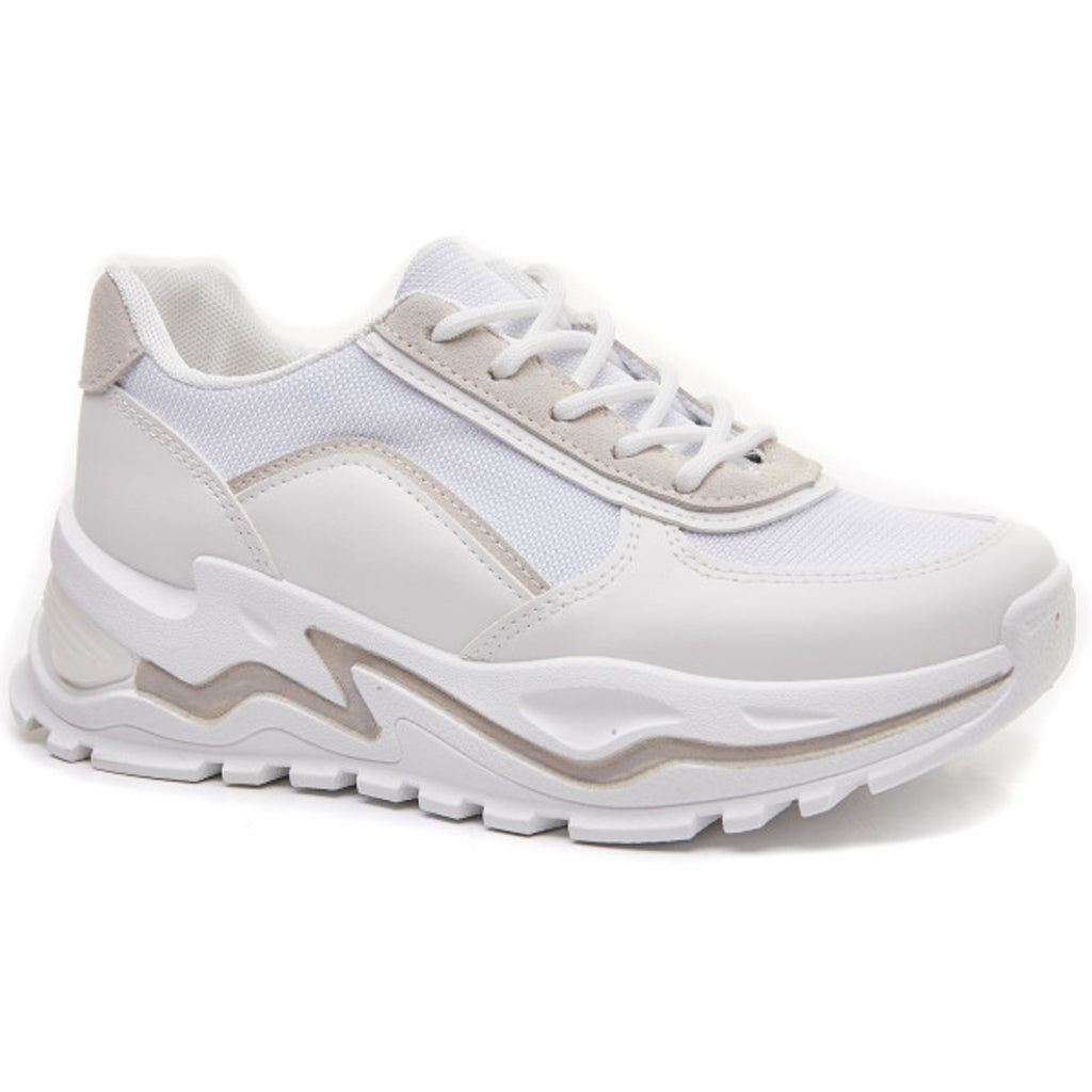 Ideal shoes dame sneakers 6160 - White