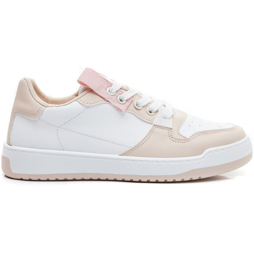Ideal shoes dame sneakers 7820 - Beige
