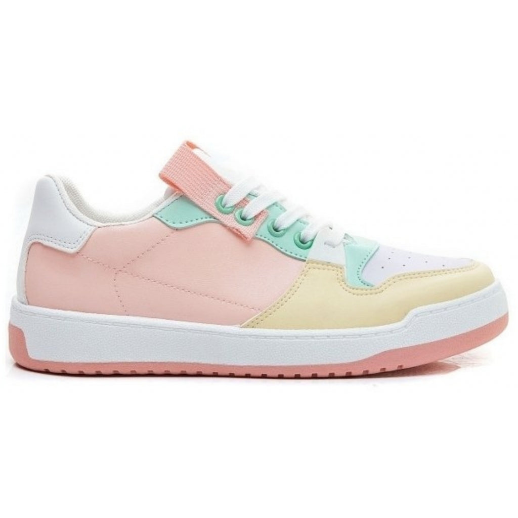 Ideal shoes dame sneakers 7820 - Pink