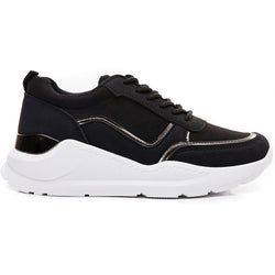 Shoes Ideal shoes dame sneakers 9912 Shoes Black