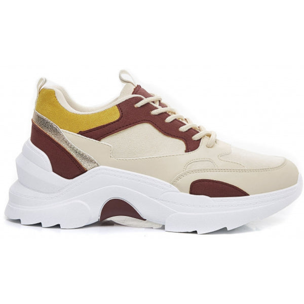 Shoes Ideal shoes dame sneakers 9915 Shoes Wine