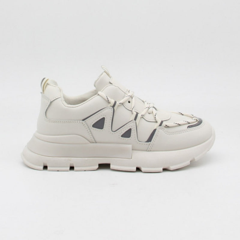 Shoes Ideal shoes dame sneakers 9932 Shoes Beige