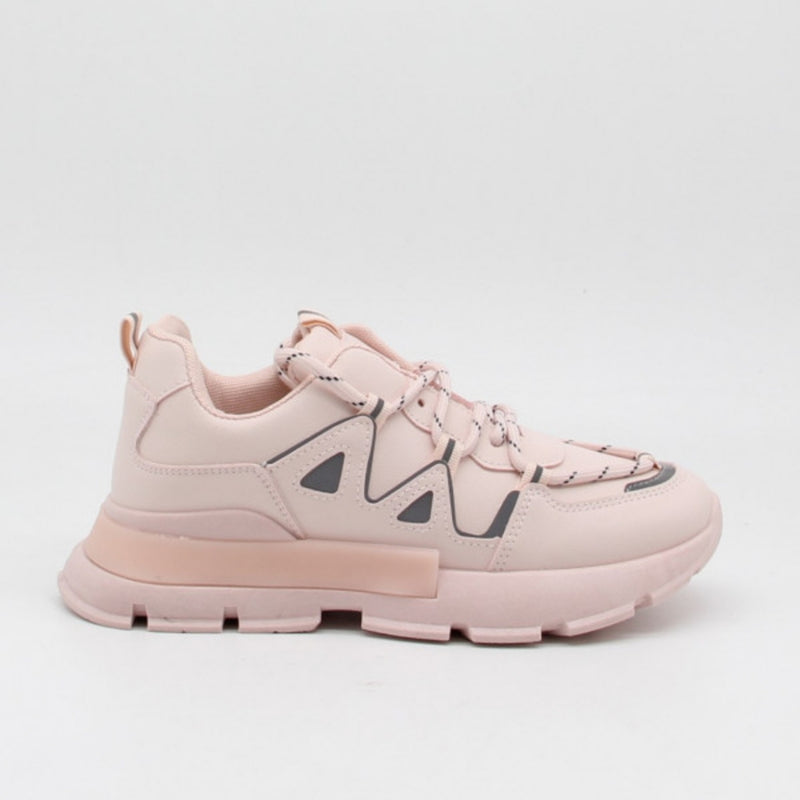 Shoes Ideal shoes dame sneakers 9932 Shoes Pink