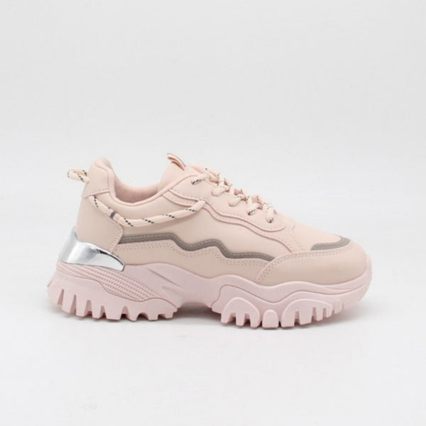 Shoes Ideal shoes dame sneakers 9933 Shoes Pink