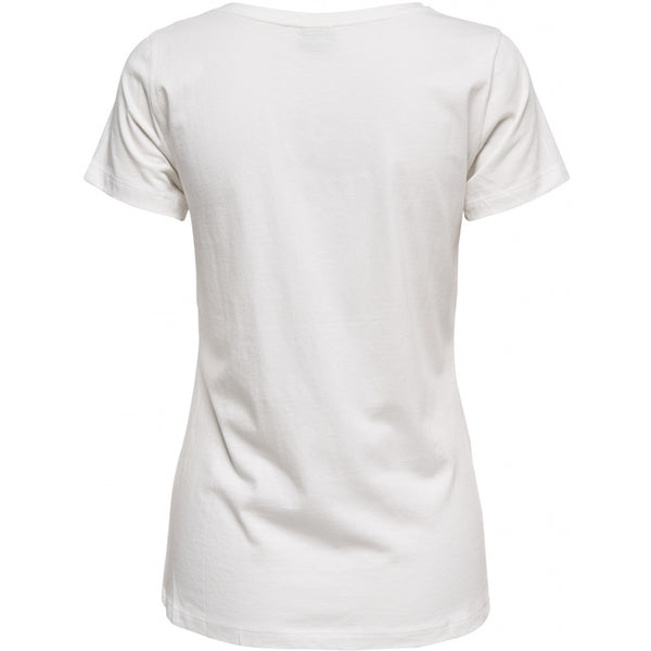 Jacqueline De Yong JDY Chicago Treats T-shirt Top White