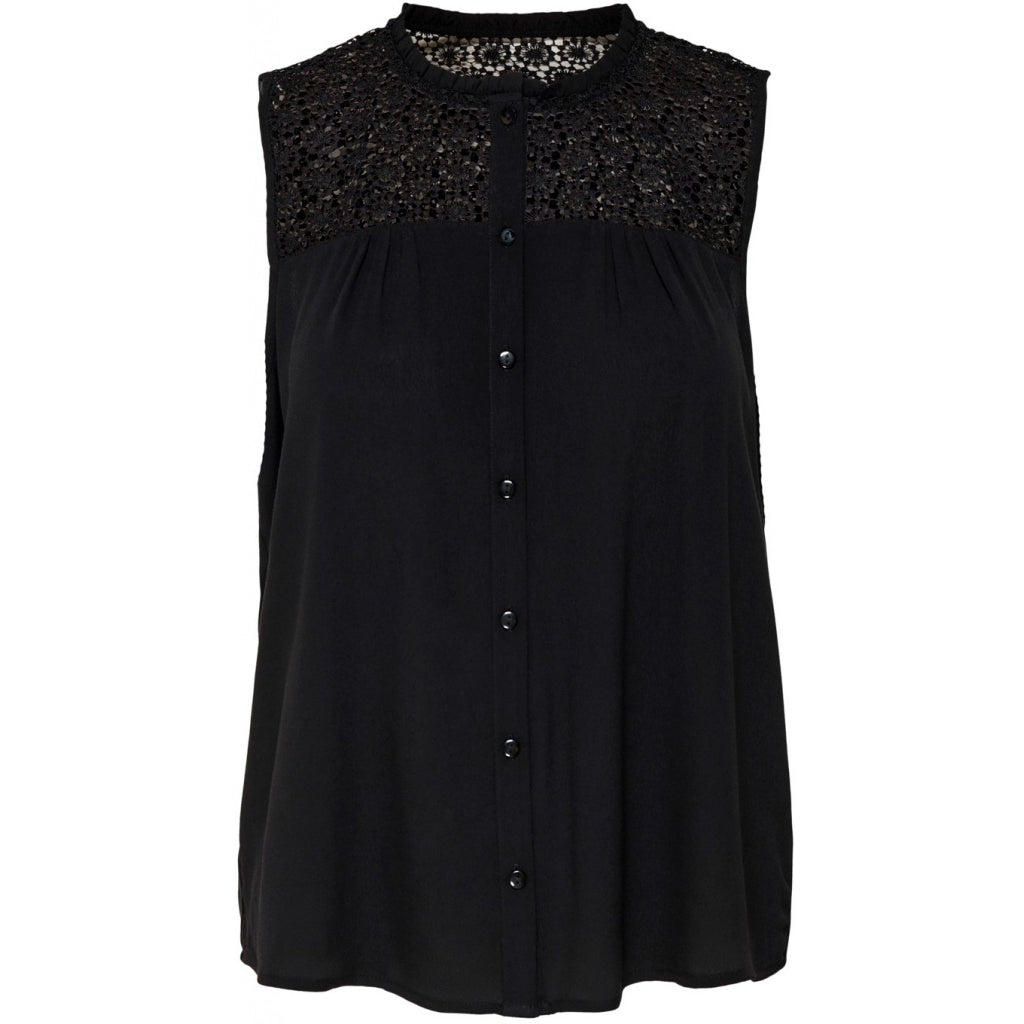 Image of   JDY Cille Lace Shirt - Black - 36