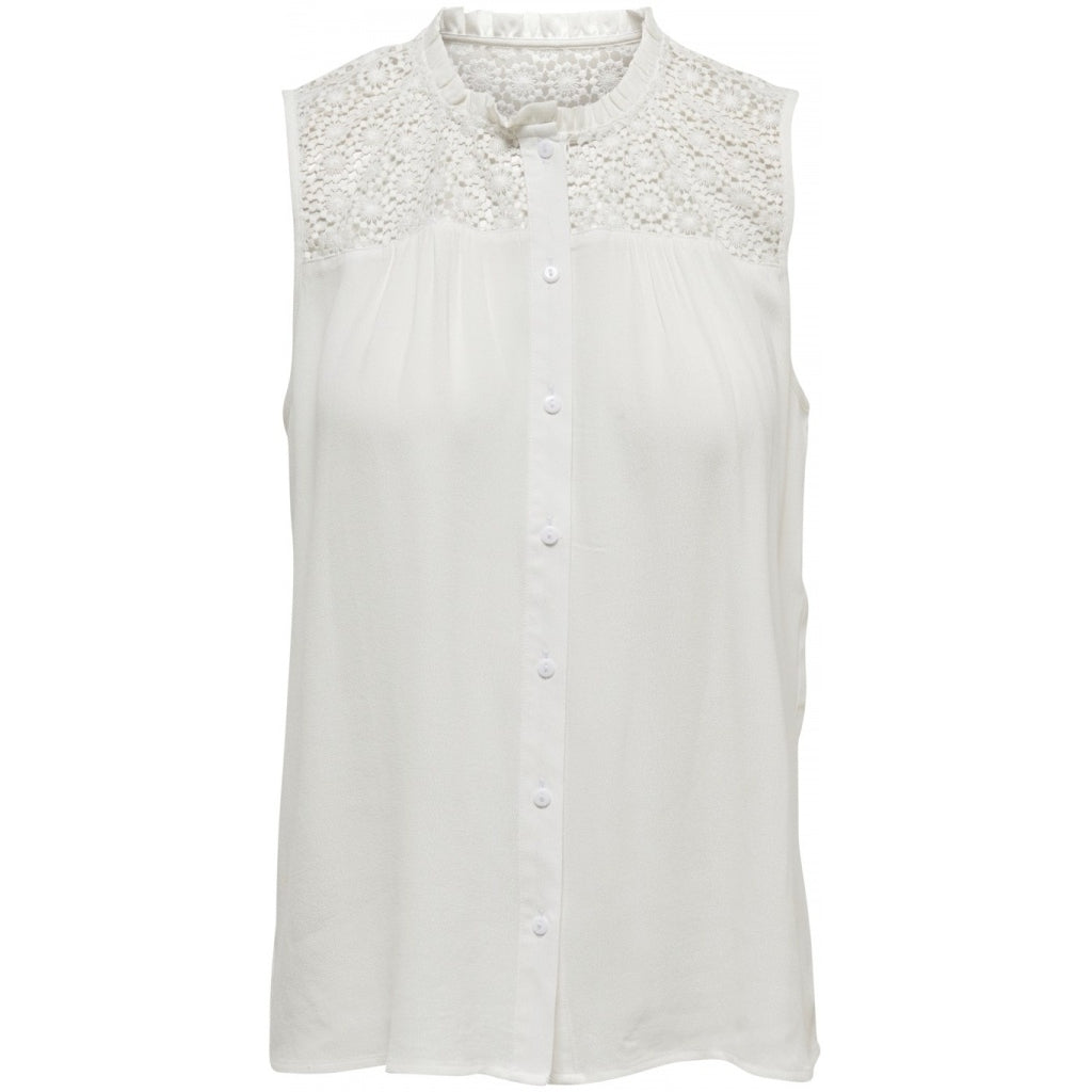 Image of   JDY Cille Lace Shirt - White - 36