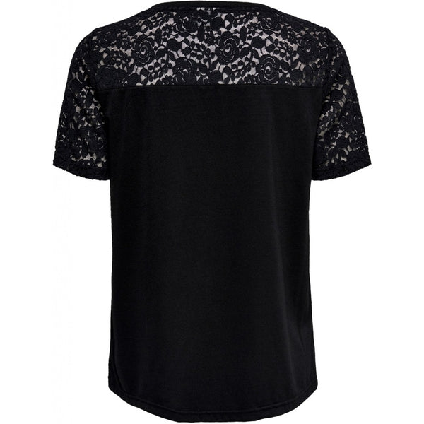 Jacqueline De Yong JDY Stinne Lace Top T-shirt Black