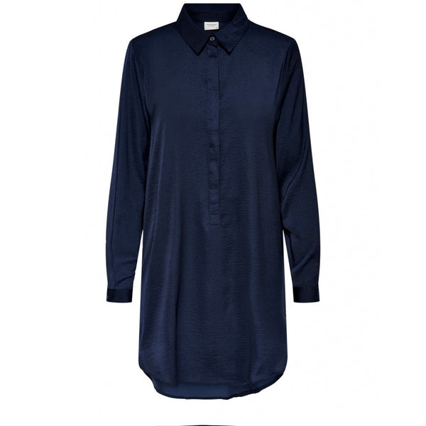 Jacqueline De Yong JDY Tara Long Shirt Dress Navy