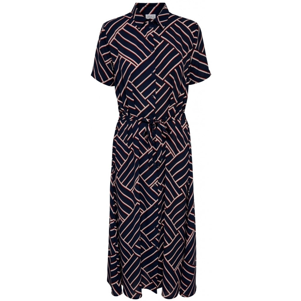 Image of   JDY Win Treats Long Dress - Navy - 34