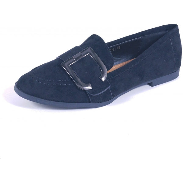 Tex-Time Ladies Ballerina Spænde Shoes Black
