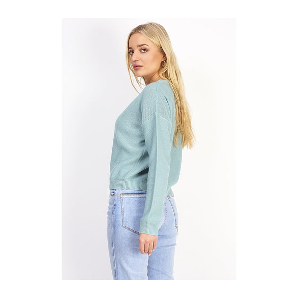 MARTA DU CHATEAU Langærmet strik Knit Mint Blue
