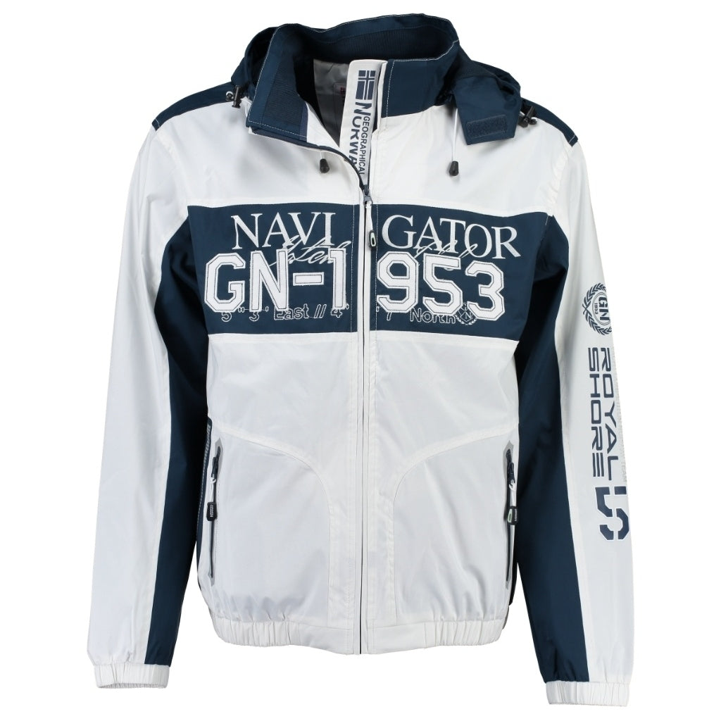 Image of   GEOGRAPHICAL NORWAY Sommerjakke Herre CLAPPING - White/Navy - XXXL