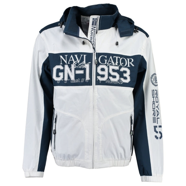 Geographical Norway GEOGRAPHICAL NORWAY Sommerjakke Herre CLAPPING Spring jacket White/Navy