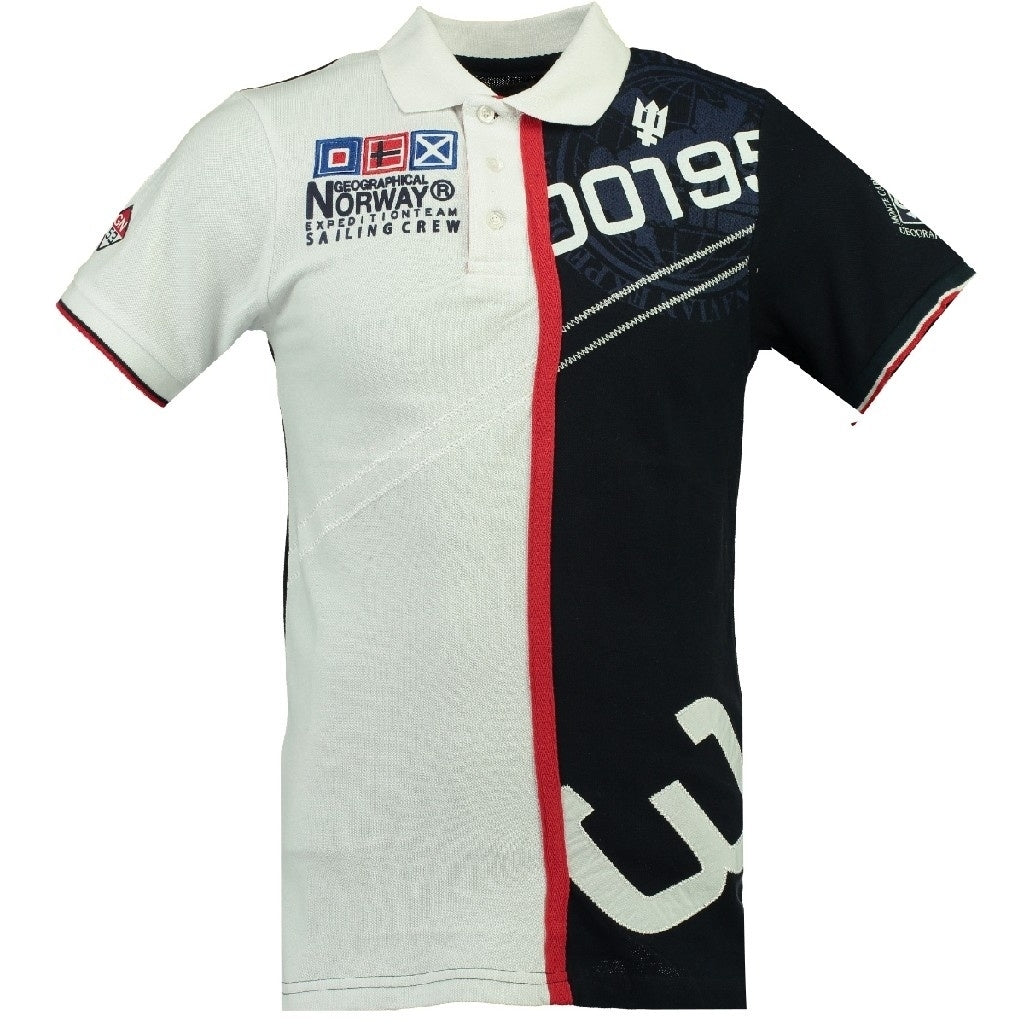 Image of   GEOGRAPHICAL NORWAY POLO Herre KAPCODE - White/Navy - L