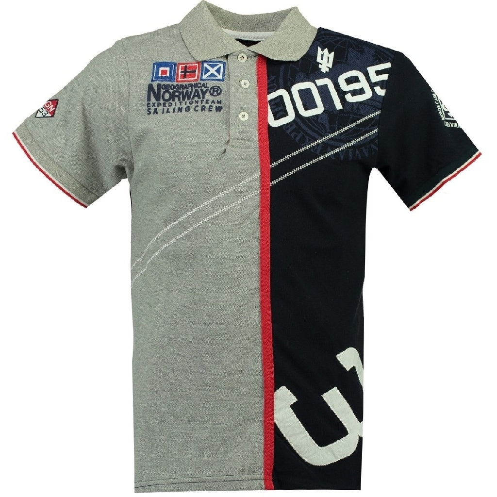 Image of   GEOGRAPHICAL NORWAY POLO Herre KAPCODE - Grey/Navy - M
