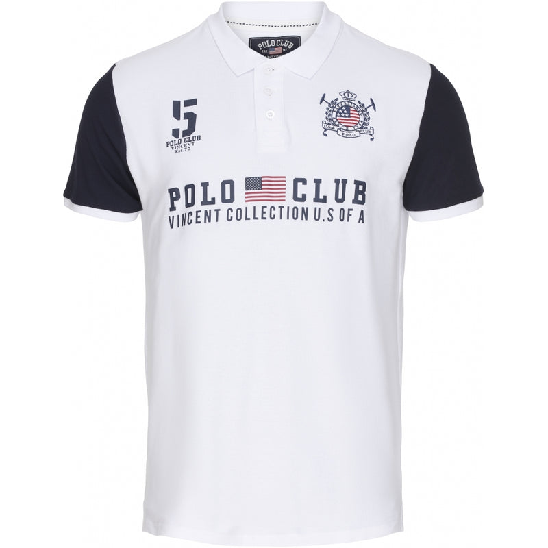 Vincent Polo Club Vincent Polo Club Polo Chicago Polo White/Navy