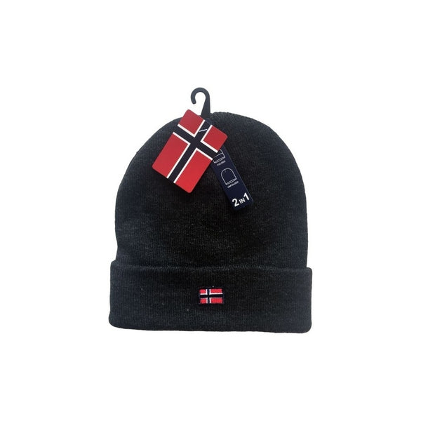 Tex-Time Nordic Hue 2i1 Unisex Hats Charcoal