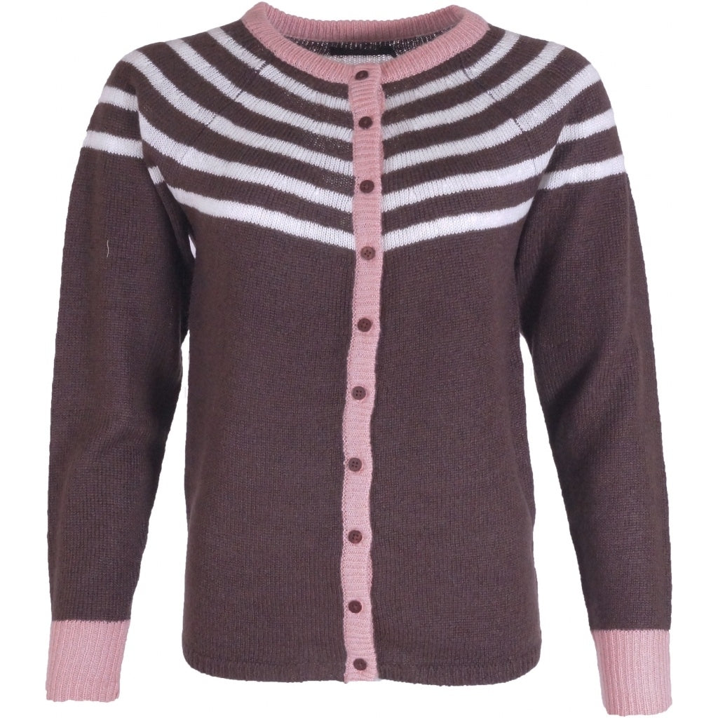 Image of   OFELIA Sanne Cardigan - Coffee - L
