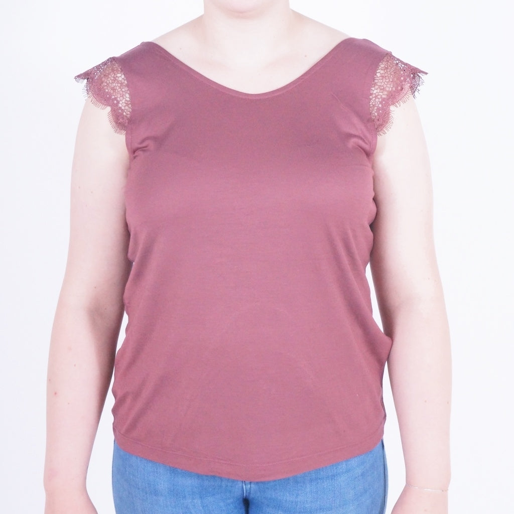 Image of   ONLY Adelina Top - Ginger - L