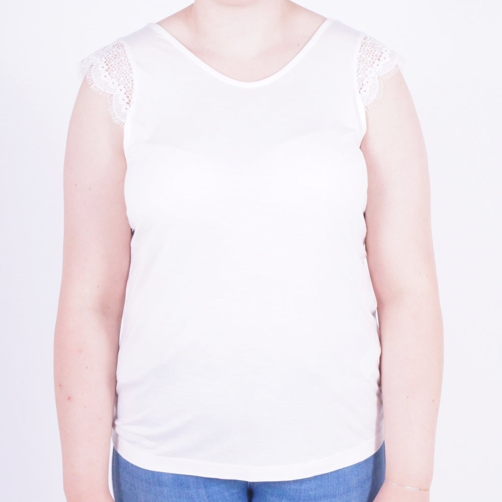 Image of   ONLY Adelina Top - White - L