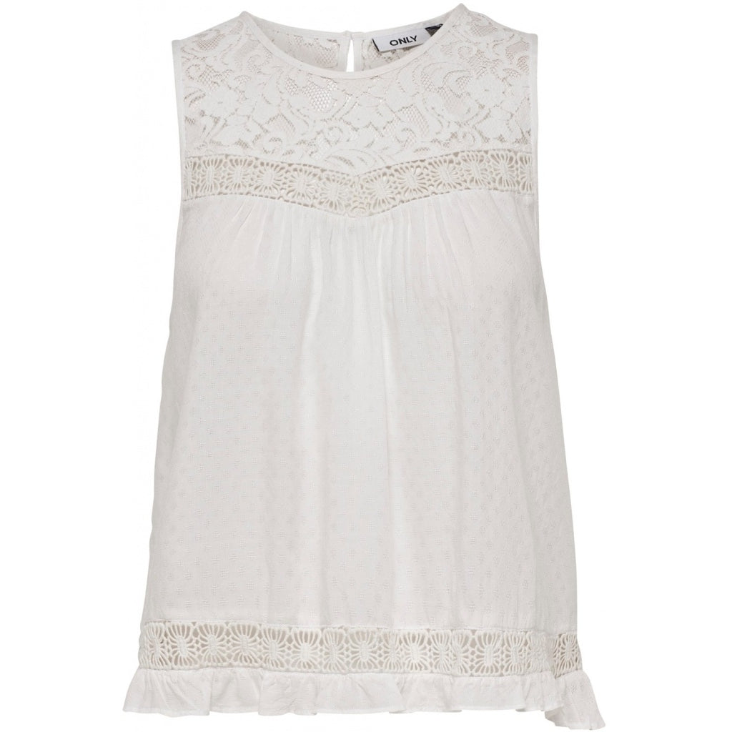 Image of   ONLY Anemone Top - Off White - L