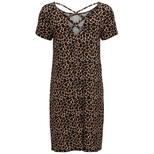 ONLY ONLY Back Lace Dress Dress Leopard