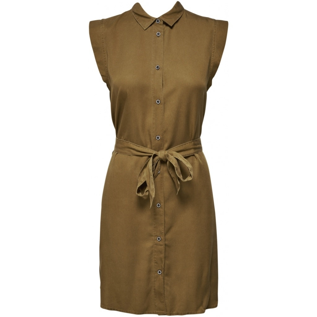 Image of   ONLY Chilli Shirt Dress - Brown - 34