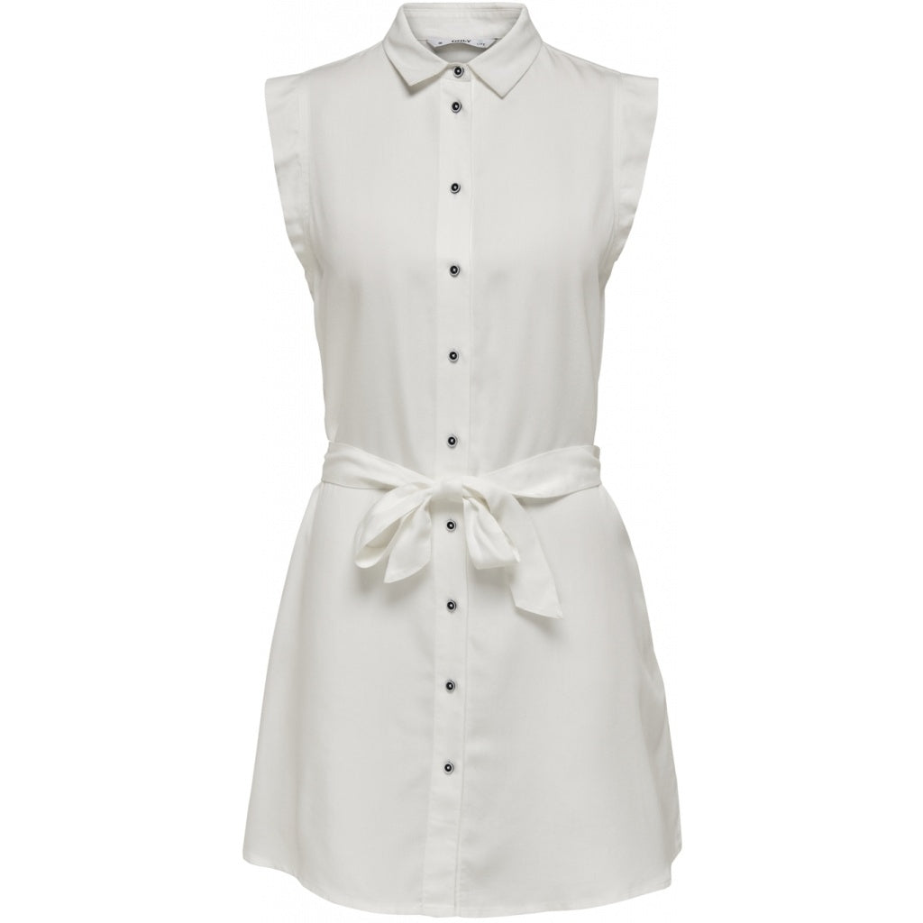 Image of   ONLY Chilli Shirt Dress - White - 34