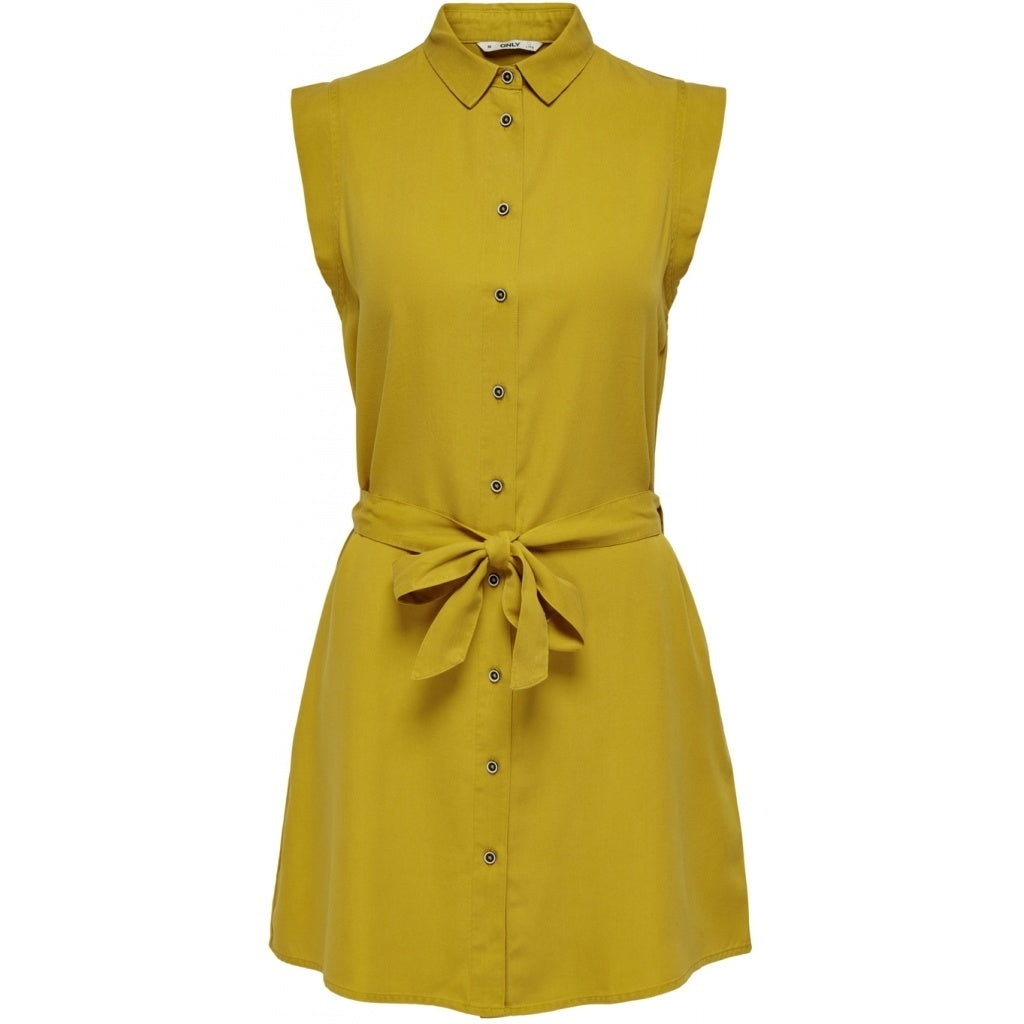 Image of   ONLY Chilli Shirt Dress - Yellow - 34
